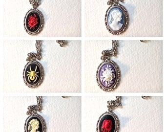 Antique Cameo // Vintage inspired small cameo necklace // Rose Cameo Jewelry