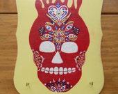 Fire Red Hot Skull