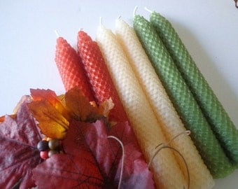 Autumn Beeswax Candles