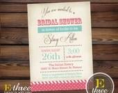 Printable Bridal Shower Invitation - Vintage Shabby Chic Wedding Shower Invitation - Girls Baby Shower Invitation