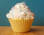 4 oz Birthday Vanilla Cupcake Soap with Shea Butter Frosting