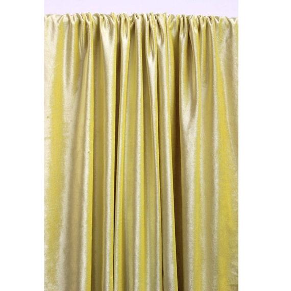 Yellow Velvet Curtain 52x84 Rod Pocket Curtain