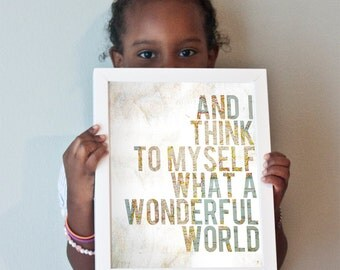 Wonderful World print