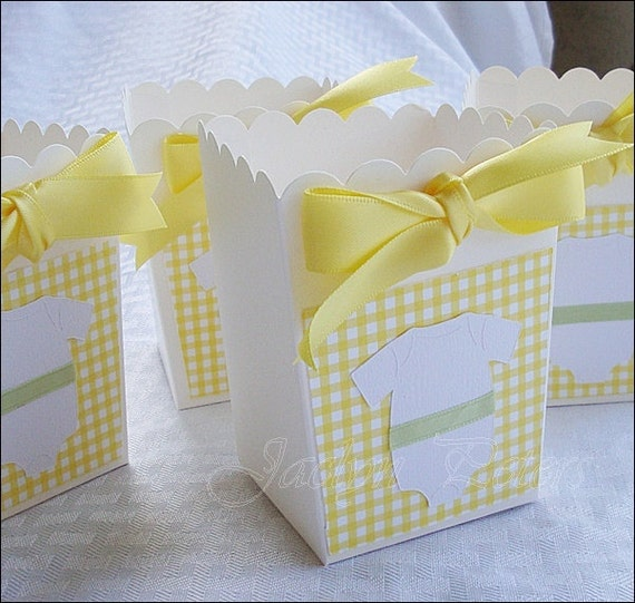 items similar to baby shower popcorn favor box gender reveal party