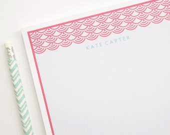 Personalized Note Pad - Oriental Scallop
