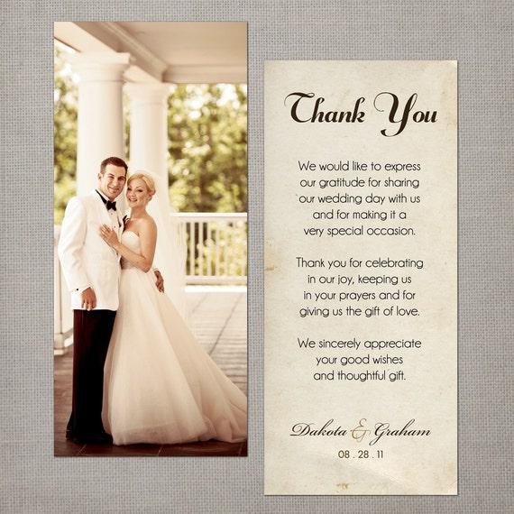 items similar to vintage wedding thank you cards  wedding