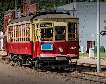 Trolley Car at the Fort Edmonton Museum in Edmonton Alberta Canada No.3805 Historical Color Wall Decor Fine Art Photography