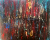Sale Art large cityscape Abstract Art Painting by Jessicabstract
