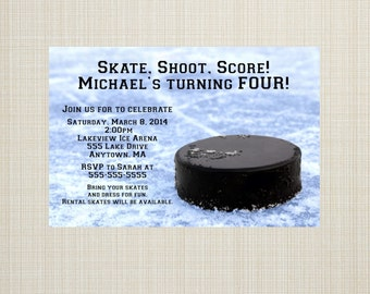 Hockey Birthday Invitation - You Print