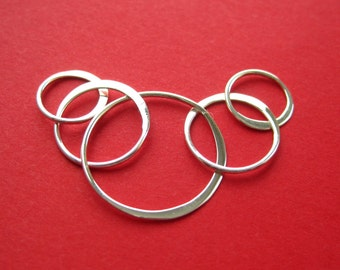 Sterling Silver Five Ring Link Connector