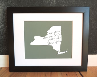 no place else on earth - New York state art print