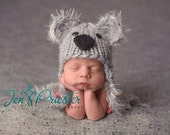 Koala Bear Hat.. newborn koala..newborn hat.. photo prop...Photography Prop..Newborn photo prop..20% off with code VALEN1 at checkout
