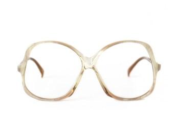 Big Brown Transparent Vintage Eyeglasses - Actuell 80's frame - NOS glasses