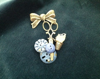 Sewing Theme Brooch