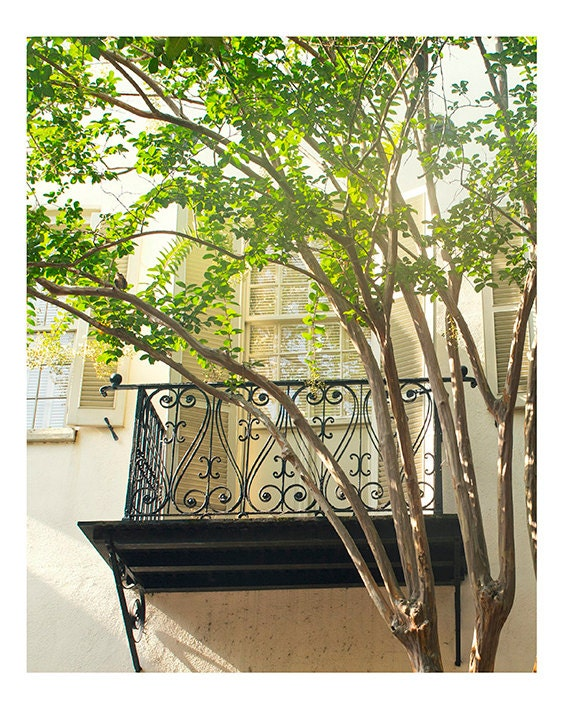 Art, Photography, Fine Art Photo, 8x10, Summer,Wall Art, Charleston, Balcony, Photography Print
