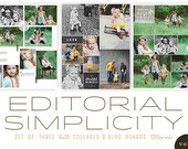 Editorial Simplicity vol 2 Blog Templates and 16x20 Storyboards   INSTANT DOWNLOAD