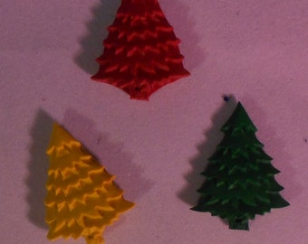 Christmas Tree Crayon Set of 3