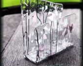 Handmade Fused Glass Business Card Holder