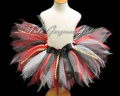 Halloween Pirate Tutu...Red, Black, White Tutu...Pirate Costume Tutu...Baby, Toddler, Girls Sizes . . . PIRATE PARTY TUTU