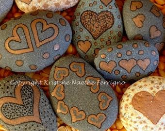 Painted Hearts Rocks # 6