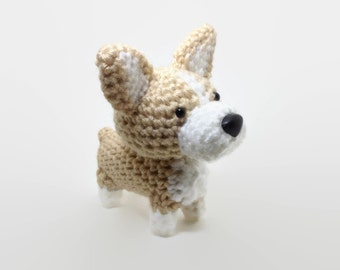 Welsh Corgi Crochet Dog Amigurumi Dog Stuffed Animal Pembroke Corgi / Made to Order