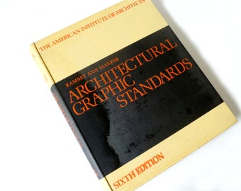 Architectural Graphic Standards, Sixth Edition, 1970, Hardcover Reference Book, American Institute of Architects, Ramsey and Sleeper, AIA