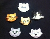 The Cats Gang Plastic Buttons / Sewing supplies / DIY craft supplies / Novelty Buttons / Kids Craft Supplies