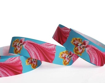 "Princess Party Dress Grosgrain Ribbon/1""(25 mm) width /DIY Hair Bow / Head band /Kids Craft Supplies"
