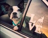 LOVE Dog Breed Car Decal