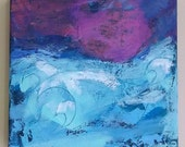 """Abstract Acrylic Painting """"Storm Within"""""""