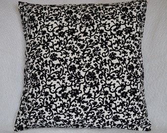 CLEARANCE!!! Halloween Black & White PIllow Cover w/ Envelope Closure 16x16