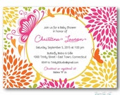 Reserved Listing for Darlene: Butterfly Garden Invitation