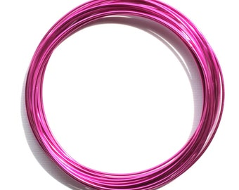 SALE Aluminum Wire 1.5mm Fuchsia Beading Wire 60% Off! - AW13