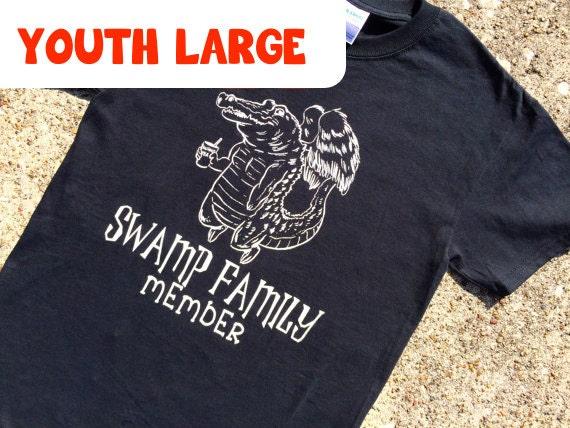 YOUTH LARGE gator BLACK t-shirt