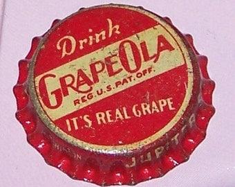 Old Grapeola Cork Lined Bottle Cap