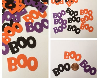 "40 Halloween ""BOO"" Confetti, Halloween Confetti, BOO Confetti, Halloween Decorations, Party Confetti, Halloween BOO"