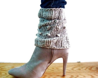 Knit Spats Pattern, Leg Warmers Knitting Pattern, Ankle Cuffs Pattern, Knit Boot Cuffs Pattern