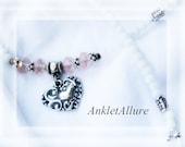 Anklet Heart Ankle Bracelet Love Blush Pink Anklet Double Heart Anklet GUARANTEE Anklet for Women