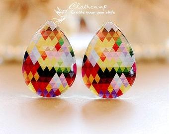 20pcs  18x25mm Handmade Photo Teardrop Glass Cabochon -Image Glass Cabochon-(HPGC-T-110)