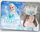Frozen PHOTO  Invitation - PRINTABLE