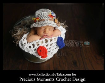 Newborn Fisherman, Baby Fisherman Hat with a Fisherman's Net, Baby Fisherman Photo Prop, Newborn PHOTO PROP, Baby Fisherman
