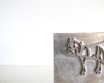 Vintage Milk Man Printing Block/Letterpress