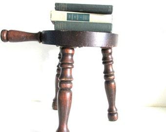 Vintage Wood 3 Leg Milking FootStool