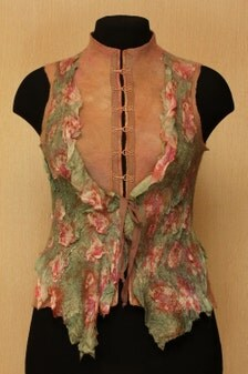 Ashes of roses / nuno-felted clothing / vest