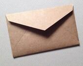 "25 Mini Kraft Envelopes-Rustic Brown--Size 2 1/4"" x 3 1/2""- business card envelopes - favor envelopes"