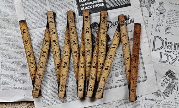 Vintage Wooden Folding Ruler - Number Love