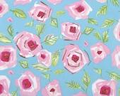 Love Roses Blue (PWDF184) - Dena Fishbein Designs - TIDDLYWINKS - Free Spirit Fabric  - 1 Yard
