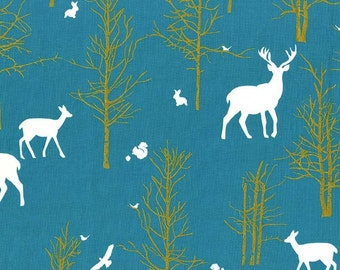 Timber Valley in Teal  MD6462 - BRAMBLEBERRY RIDGE by Violet Craft  - Michael Miller Fabrics - By the Yard