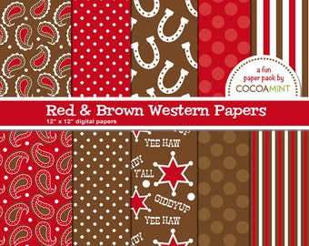 Red and Brown Western Digital Papers