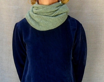 4-way wrap scarf cowl snood in sage green